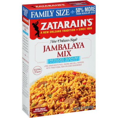 Zatarain's® Reduced Sodium Jambalaya Mix 12 oz. Box