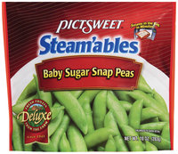 STEAM'ABLES DELUXE Baby Sugar Snap Peas 10 OZ STAND UP BAG