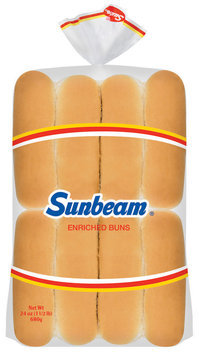 Sunbeam Enriched Hot Dog 16 Ct Buns