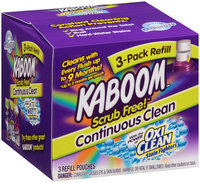 Kaboom™ Scrub Free!™ Continuous Clean with OxiClean™ Toilet Cleaning System Refill 3 ct Pouches