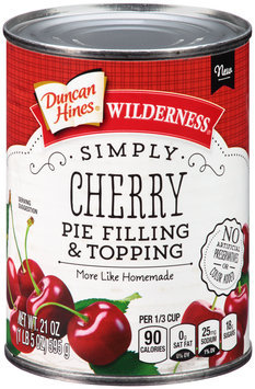 Duncan Hines® Wilderness® Simply Cherry Pie Filling & Topping 21 oz. Can