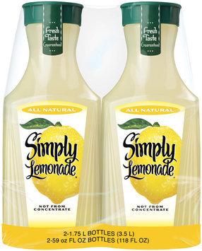 Simply Lemonade® Lemonade 2-1.75L Plastic Carafe