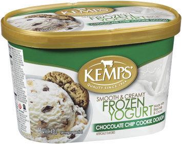 Kemps Chocolate Chip Cookie Dough Frozen Yogurt 1.5 Qt Carton