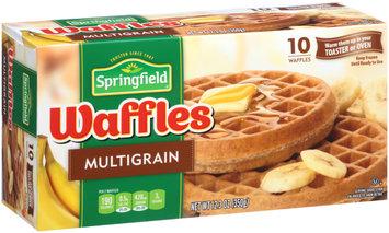 Springfield Multigrain Frozen Waffles 12.3 oz. Box