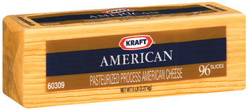 Kraft American 96 Ct Cheese Slices 5 Lb Pack