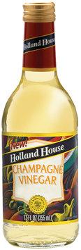 Holland House Champagne Vinegar 12 oz. Glass Bottle