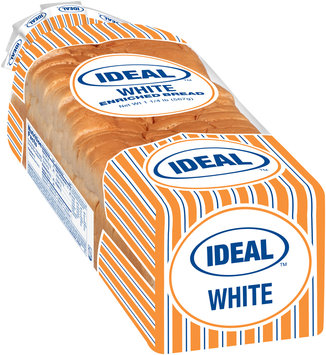 Ideal™ Enriched White Bread 1 1/4 lb. Package
