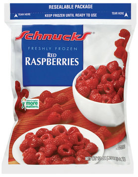 Schnucks Red Freshly Frozen Raspberries 12 Oz Bag