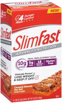 SlimFast Advanced Nutrition Caramel Almond Sea Salt Bars