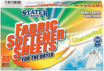 Stater Bros. Unscented For The Dryer Fabric Softener Sheets 80 Ct Box