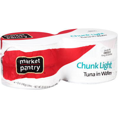 Market Panty™ Chunk Light Tuna in Water 4-5 oz. Cans