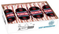 Plumrose Single Shingle 18-22 Food Service Bacon 15 Lb Box