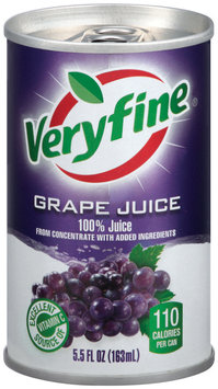 Veryfine Grape from Concentrate W/Added Ingredients 100% Juice 5.5 Oz Can