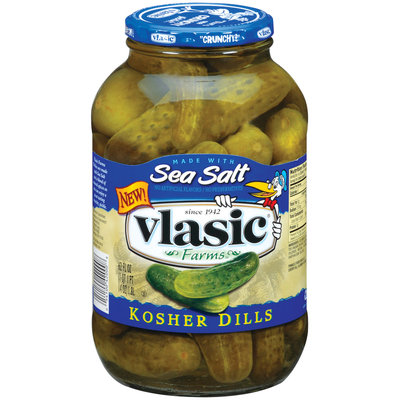 Vlasic Kosher Dills Made W/Sea Salt Pickles 62 Oz Jar