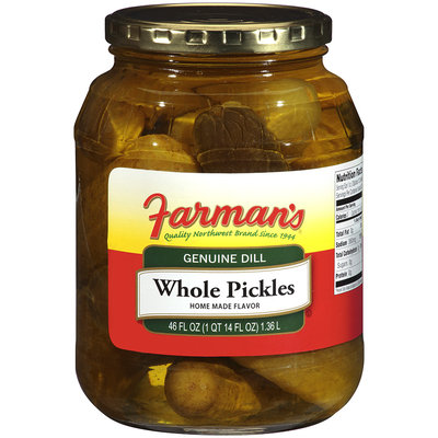 Farman's®Genuine Dill Whole Pickles 46 oz Jar