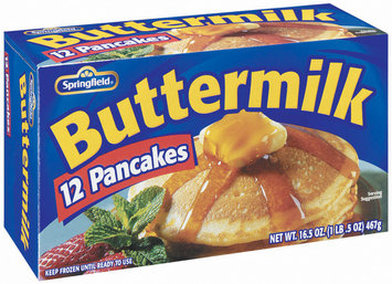 Springfield Buttermilk 12 Ct Pancakes 16.5 Oz Box