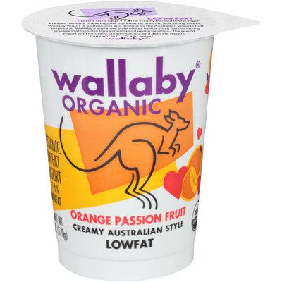 Wallaby® Organic Orange Passion Fruit Lowfat Yogurt 6 oz. Cup