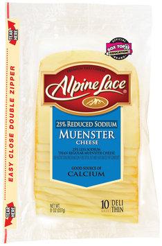 Alpine Lace® Muenster Reduced Sodium Slices Deli Cheese 8 Oz Shingle Pack