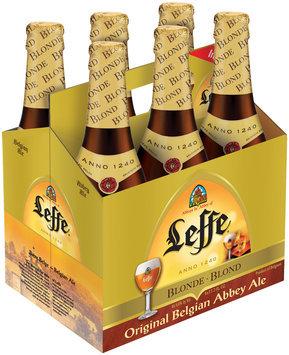 LEFFE BLOND 11.2 oz Beer 6 PK GLASS BOTTLES