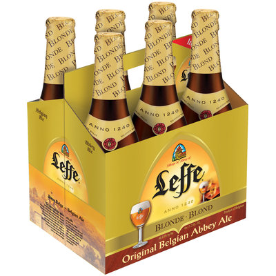 LEFFE BLOND 11.2 oz Beer 6 PK GLASS BOTTLES