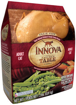 Innova Nature's Table Grain Free Farm-Raised Chicken & Tender Turkey Recipe Adult Cat Food 2 lb. Bag
