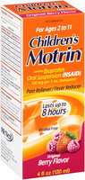 Children's Motrin® Original Berry Flavor Pain Reliever/Fever Reducer Oral Suspension for Ages 2 to 11 4 fl. oz. Box