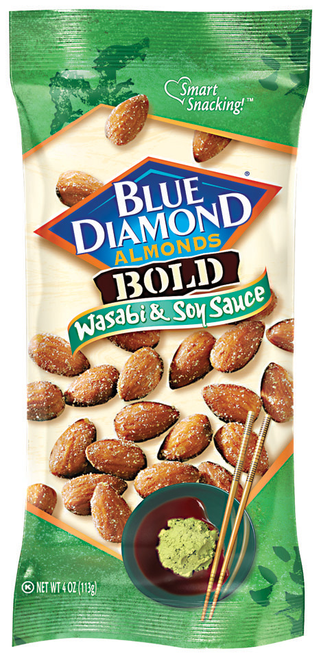 Blue Diamon® Bold Wasabi & Soy Sauce Almonds 4 oz.