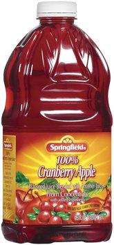 Springfield 100% Cranberry Apple Juice 64 Fl Oz Plastic Bottle