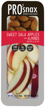 PRO2snax Sweet Gala Apples with Roasted & Salted Almonds Single Serve Snack 2.4 oz. Pack