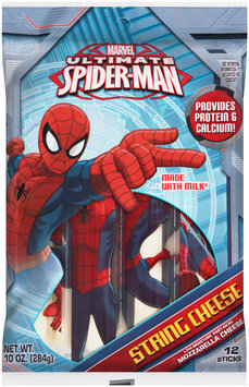 Marvel Ultimate Spiderman Mozzarella String Cheese 12 ct Bag
