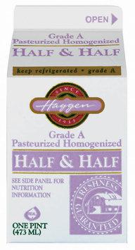 Haggen Grade A Half & Half 1 Pt Carton