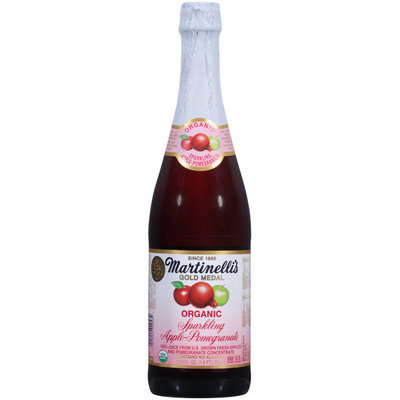 Martinelli's Gold Medal® Sparkling Apple-Pomegranate 100% Juice 25.4 fl. oz. Bottle