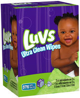 Ultra Thicks Natural Aloe Luvs Ultra Clean Wipes 8X Tub + Refills 576 Count