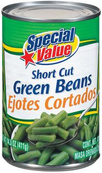 Special Value Short Cut Green Beans 14.5 Oz Can