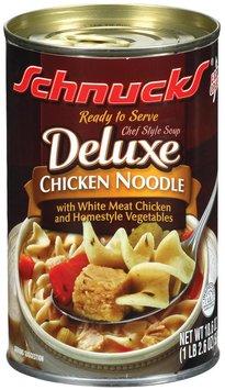 Schnucks Deluxe Chicken Noodle Soup 18.6 Oz Can