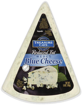 Treasure Cave® Reduced Fat Blue Cheese 5.5 oz. Wedge