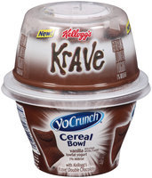YoCrunch® Cereal Bowl Vanilla with Kellogg's Krave® Double Chocolate Lowfat Yogurt 4.7 oz. Cup