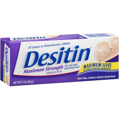 Desitin® Zinc Oxide Original Diaper Rash Paste 3 oz. Box