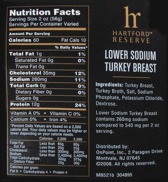 Hartford Reserve™ Lower Sodium Turkey Breast