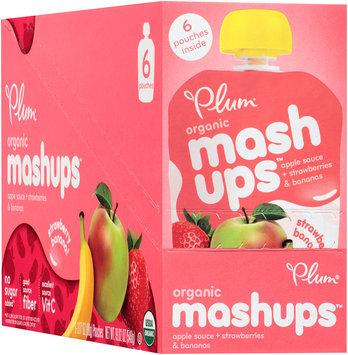 Plum Organics® Mashups™ Strawberry Banana Apple Sauce 6-3.17 oz. Pouches