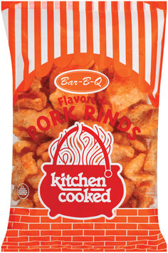 Kitchen Cooked Bar-B-Q Flavored Pork Rinds 5 Oz Bag