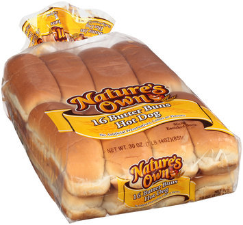 Nature's Own® Butter Hot Dog Buns 30 oz. Bag