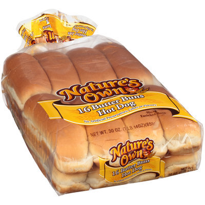 Nature's Own® Butter Hot Dog Buns 30 oz. Bag