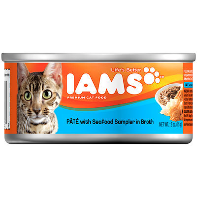Iams™ Pate with Seafood Sampler in Broth Cat Food