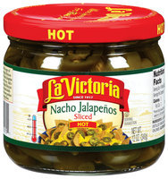 La Victoria® Sliced Hot Nacho Jalapenos 12 oz. Jar