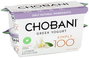 Chobani® Simply 100™ Vanilla Blended Non-Fat Greek Yogurt
