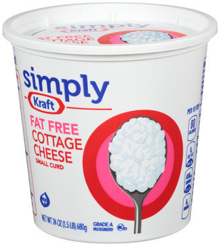 Simply Kraft Small Curd Fat Free Cottage Cheese