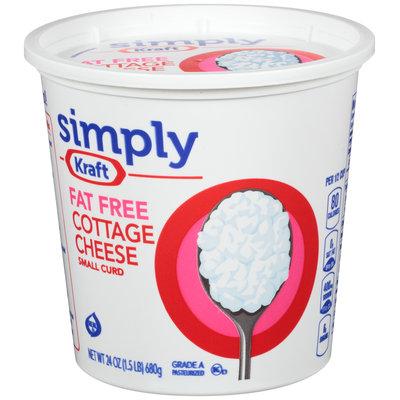 Simply Kraft Small Curd Fat Free Cottage Cheese 24 oz. Tub