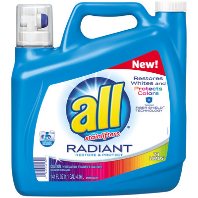all® Radiant Laundry Detergent 73 Loads 141 fl. oz. Bottle