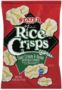 Stater Bros. Mini Sour Cream & Onion Rice Crisps 6.06 Oz Bag